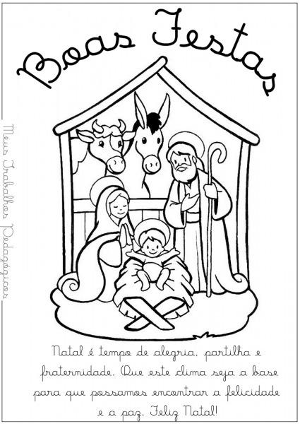 Mensagem De Natal Para Colorir – Pampekids Net