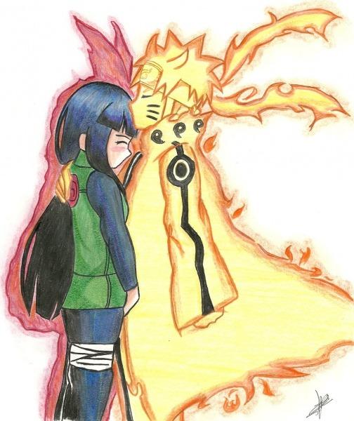 Naruto E Hinata Na Quarta Guerra Mundial Ninja  02 Colorido à Mão