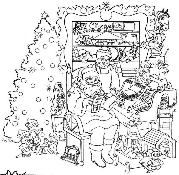 Galeria De Desenhos Para Colorir Do Pai Natal  Desenhos Para