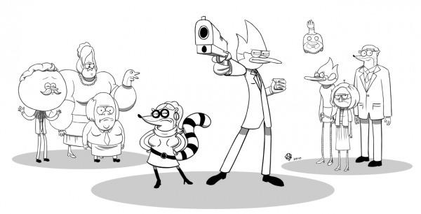 Desenho De Personagens De Regular Show Para Colorir