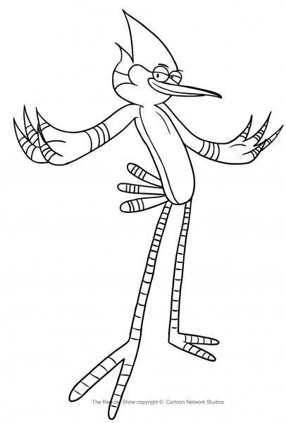 Desenho De Mordecai De Apenas Um Show Para Colorir