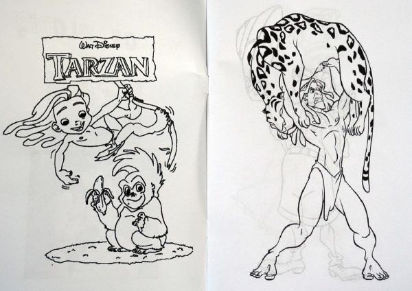 Revista Para Colorir Tarzan No Elo7