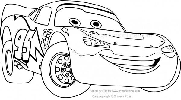 Desenho De Rayo Mcqueen Car Para Colorir