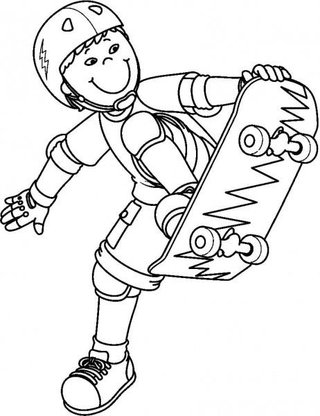 Skate Para Colorir