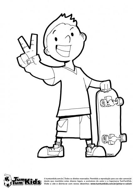 Desenhos De Skate Para Imprimir – Pampekids Net
