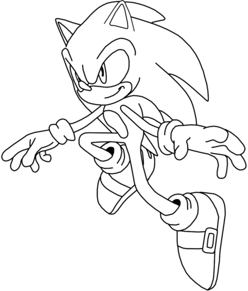 Sonic X Colorir – Free Coloring Pages