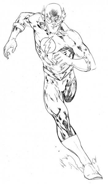Desenhos De The Flash Para Colorir