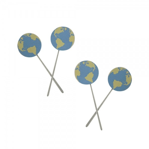 Topper Para Docinho Planeta Terra C 10 Unidades No Elo7