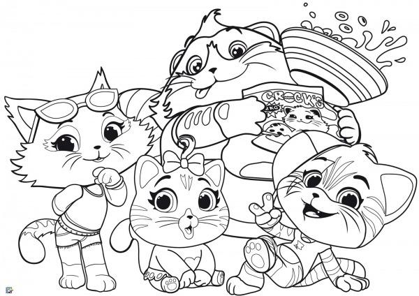 Desenhos Da Lulu  44 Gatos Para Colorir