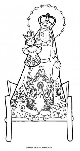 Virgen De La Carrodilla Para Pintar