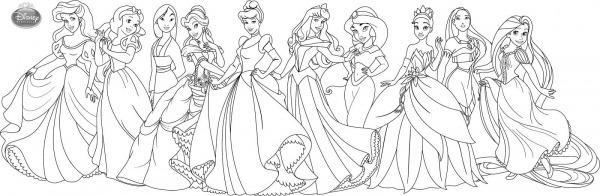 Imagens Princesas Para Colorir
