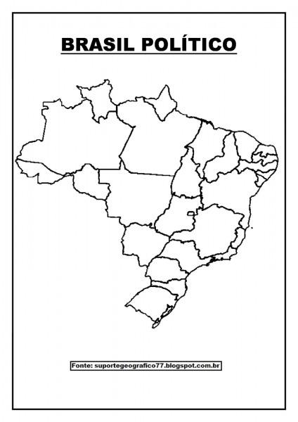 Mapa Politico Do Brasil Para Colorir
