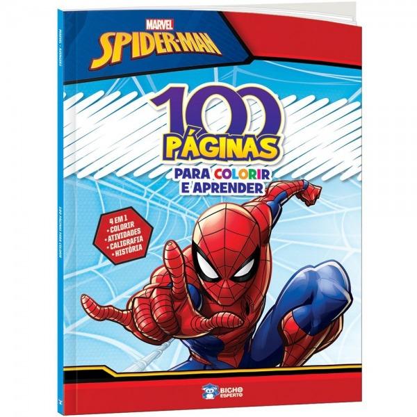 Livro Para Colorir Infantil C  100 Páginas Homem Aranha Bicho