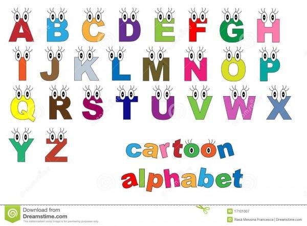 Alfabeto Dos Desenhos Animados Ilustração Do Vetor