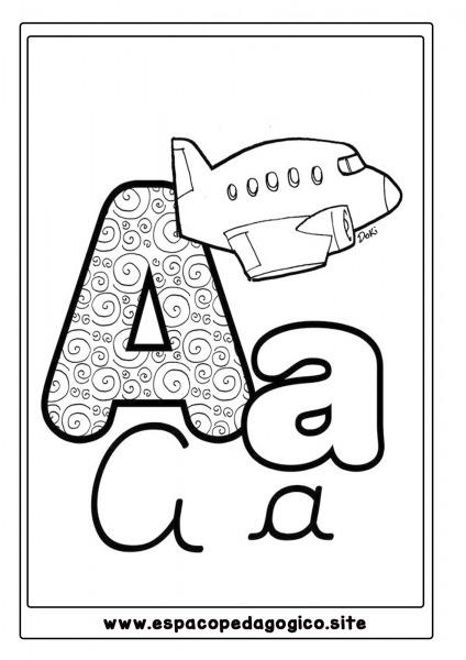 Lindo Alfabeto Ilustrado Para Colorir, Pintar, Imprimir!