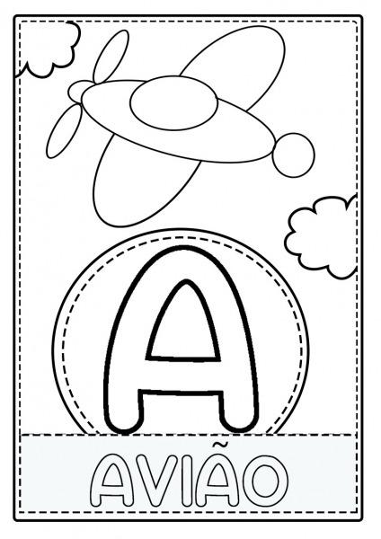 Atividades Alfabeto Colorir Pintar Todas As Letras A Z Pdf