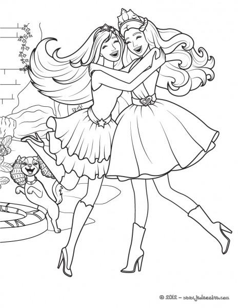 Adorável Desenhos Para Colorir Da Barbie Eo Castelo De Diamante