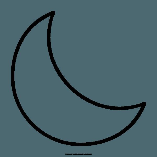 √ Lua Desenho Para Colorir