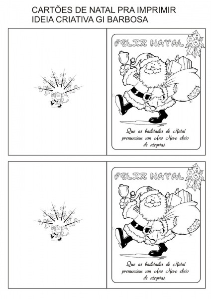 Cartoes De Natal Para Imprimir E Colorir – Pampekids Net