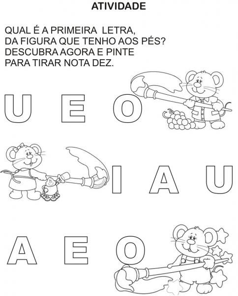 Atividades Com Vogais Para Alfabetização Infantil