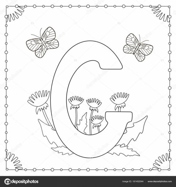 Imágenes  Alfabeto Decorado Para Colorir