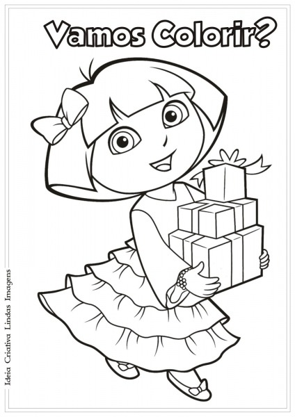 Desenho Para Colorir Da Dora Aventureira