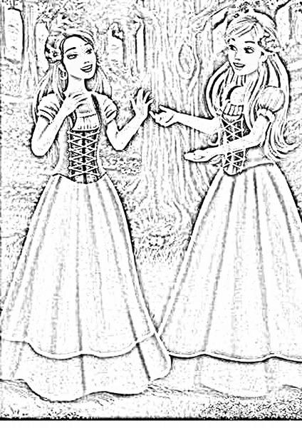 Desenhos Para Colorir Da Barbie Girl