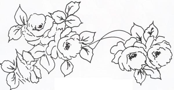 Cantinho Da Jana  Riscos De Rosas Para Pintura Em Tecido