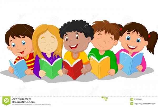 Desenhos Animados Felizes Das Crianças Que Encontram