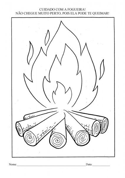 Desenho Fogueira De São João