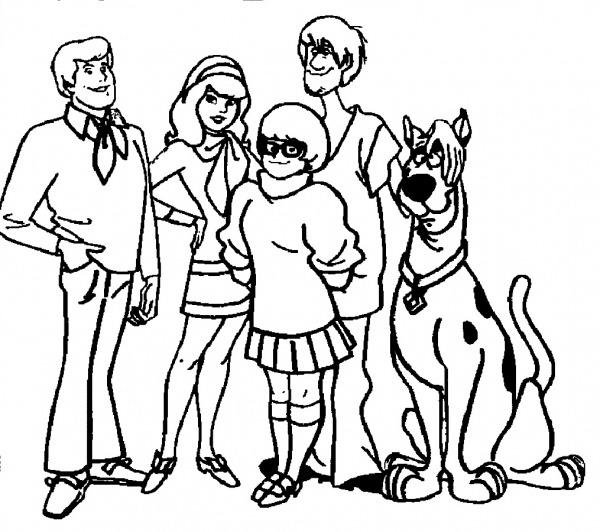 Desenhos Para Colorir Do Scooby