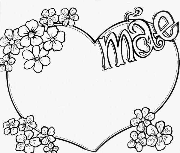 Desenho De Um Coração Para Imprimir