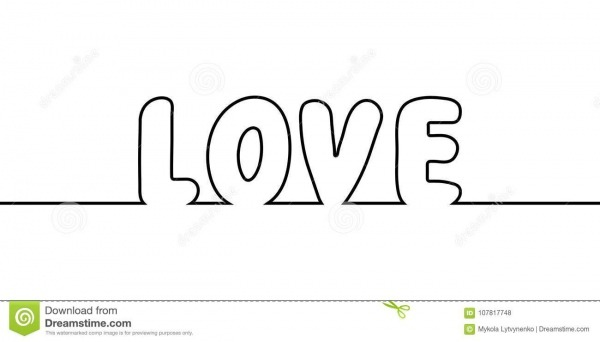 Exprima O A Lápis Desenho Do Texto Um Do Amor, Amor Das Letras Dos