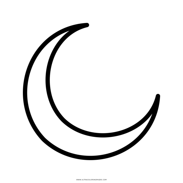 Lua Crescente Desenho Para Colorir – Coloring City