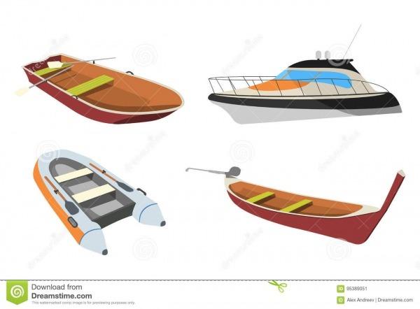 Grupo De Barco  Ícone Da Lancha, Do Pirogue, Da Jangada E Do Barco