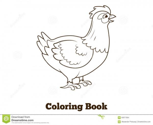 Ilustração Dos Desenhos Animados Da Galinha Da Galinha Do Livro