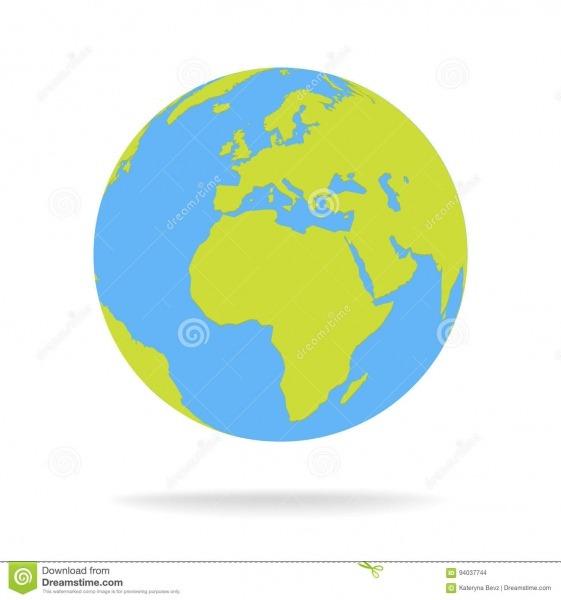 Ilustração Verde E Azul Do Vetor Do Globo Do Mapa Do Mundo Dos