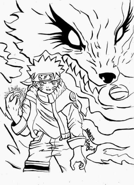 Naruto Desenho Para Colorir