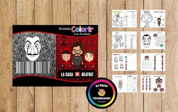 Livro Para Colorir La Casa De Papel