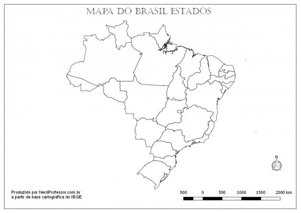 Mapas Do Brasil Regiões Para Colorir – Nerd Professor