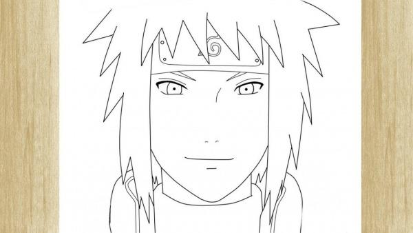 How To Draw Minato Namikaze From Naruto     Como Desenhar O Minato