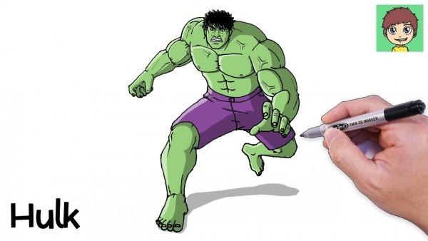 Como Desenhar O Hulk Passo A Passo Facil