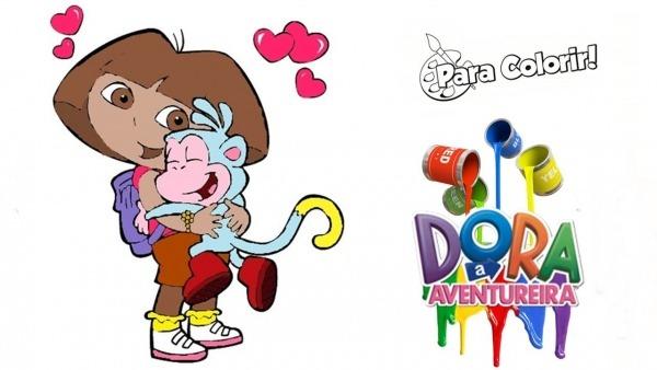 Dora Aventureira E Botas O Macaco Desenho Para Colorir