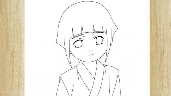 How To Draw Hinata Hyuga From Naruto     Como Desenhar A Hinata