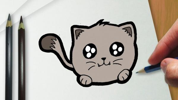 Como Desenhar Um Gatinho Kawaii