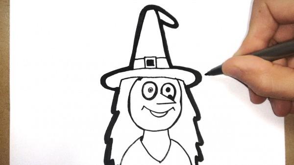 Como Desenhar Uma Bruxa De Halloween
