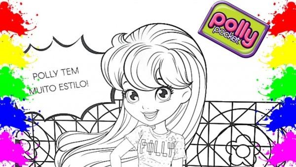Polly Pocket Estilosa!! Colorindo Desenho E Aprendendo Cores Para