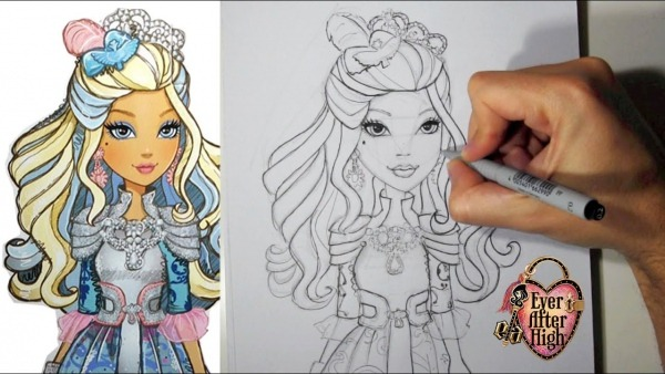 Como Desenhar A Darling Charming De Ever After High