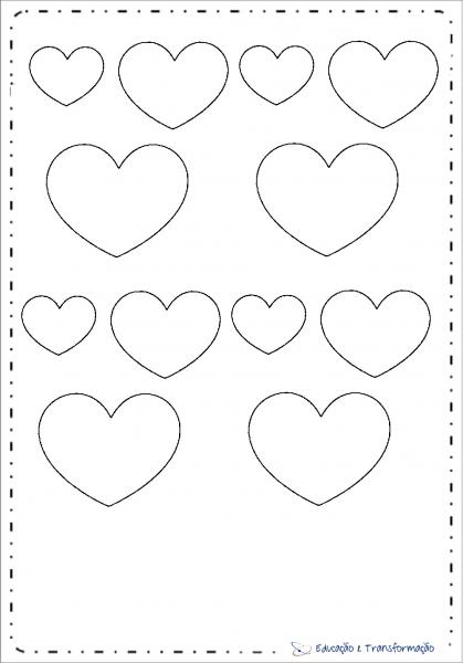 Moldes De Coração Para Imprimir – Educação E Transformação