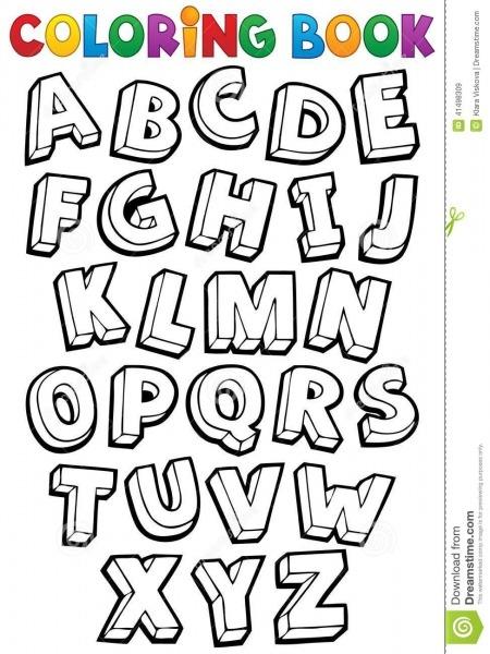Tema 1 Do Alfabeto Do Livro Para Colorir Ilustração Do Vetor